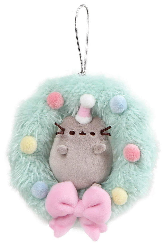 Pusheen Cat Plush Wreath Christmas Ornament - 5