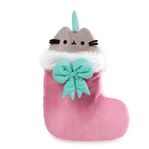 "Pusheen Cat Pink Plush Christmas Stocking - 15"" - Gund"