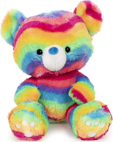 "Kai Rainbow Teddy Bear - 12"" - Gund"