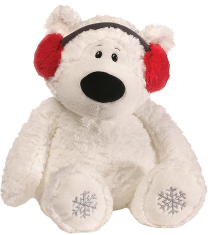 "Blizzard the Winter Holiday Polar Bear with Earmuffs Large - 17"" - Gund"
