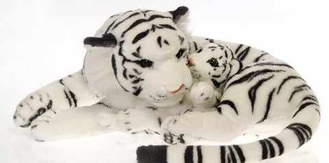"Mama White Tiger with Baby - 18"" - Fiesta"