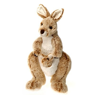 Mama Plush Kangaroo with Baby - 14 - Fiesta