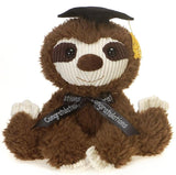 "Scruffy Graduation Sloth Stuffed Animal - 11"" - Fiesta"