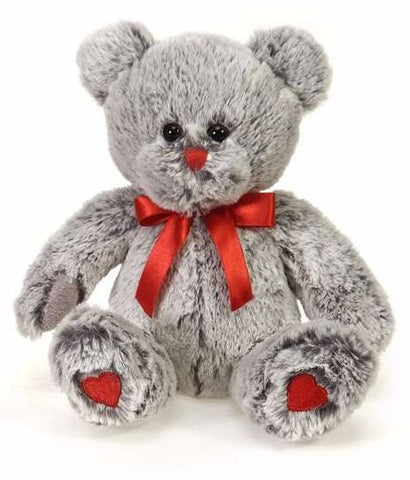 "Valentine's Day Gray Teddy Bear - 8.5"" - Fiesta"