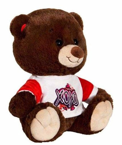 "Valentine's Day XOXO T-Shirt Teddy Bear - 11"" - Fiesta"
