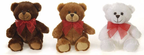 "Red Ribbon Valentine's Day Teddy Bear - 5.5"" - Fiesta"