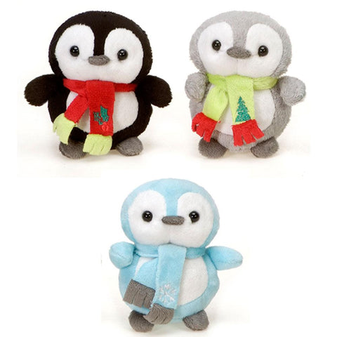Mini Christmas Penguin Plush Toy With Scarf 4 Fiesta Plush