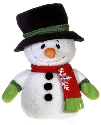 "Jumbo Snowman Stuffed Animal with Holiday Scarf Plush Toy - 24"" - Fiesta"