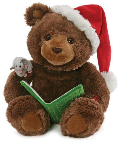 "Storytime Talking Christmas Bear - 16"" - Gund Fun"