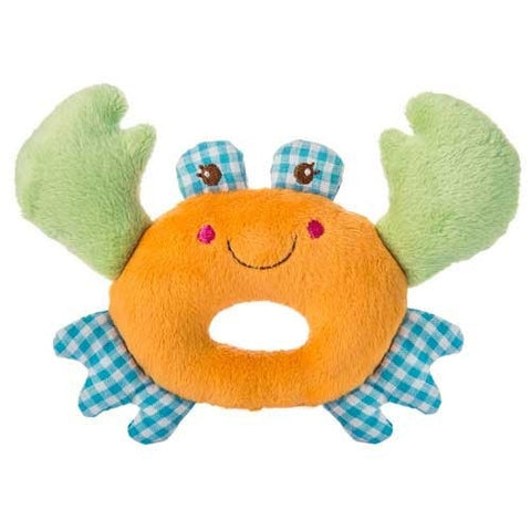 "Baby Buccaneer Plush Crab Rattle - 5"" - Mary Meyer Baby - Plush Friends"