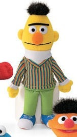 "Sesame Street Bert Plush Beanbag - 7"" - Gund - Plush Friends"