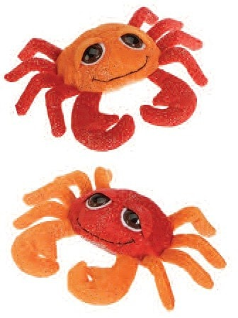 "Big Eyed Sparkles Crab Stuffed Animal - 7"" - Fiesta - Plush Friends"