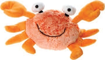 "Big Eyes Orange Crab Stuffed Animal - 9.5"" - Fiesta - Plush Friends"
