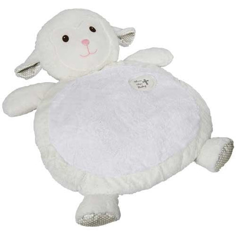 Bless This Baby Lamb Bestever Baby Mat - 31' - Mary Meyer Baby - Plush Friends
