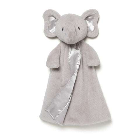 "Bubbles Gray Elephant Gund Huggybuddy Blanket - 17"" - Baby Gund - Plush Friends"