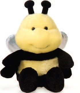 "Bumble Bee Stuffed Animal Bean Bag Medium - 7"" - Fiesta - Plush Friends"