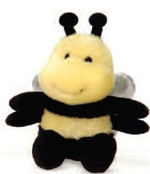 "Bumble Bee Stuffed Animal Bean Bag Small - 5"" - Fiesta - Plush Friends"
