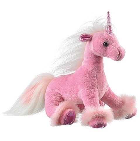 "Plush Pink Unicorn - 11"" - Wildlife Artists"