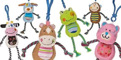 "Cheery Clips Backpack Clips - 6"" - Mary Meyer - Plush Friends"