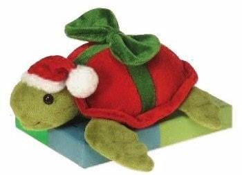 "Christmas Bean Bag Turtle - 9.5"" - Fiesta - Plush Friends"