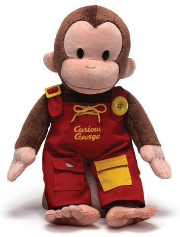 "Teach Me Curious George Doll - 16"" - Gund - Plush Friends"