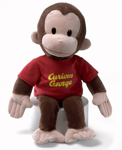 "Curious George Stuffed Animal with Red T-shirt - 16"" - Gund - Plush Friends"