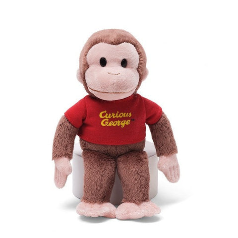 "Curious George Plush Monkey with Red T-shirt - 8"" - Gund - Plush Friends"