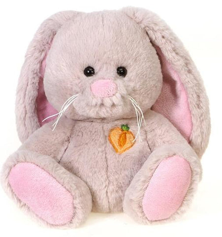 "Beige Sitting Easter Bunny with Carrot Patch on Chest -  8.5"" - Fiesta"