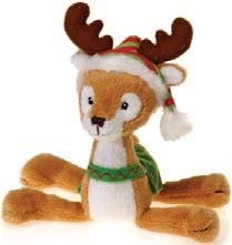 "Floppy Christmas Plush Reindeer Toy - 8"" - Fiesta - Plush Friends"