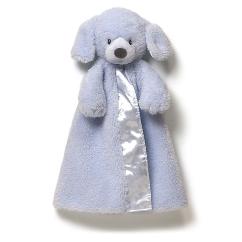 "Fluffey Gund Huggybuddy Dog Blue Blanket - 17"" - Baby Gund - Plush Friends"