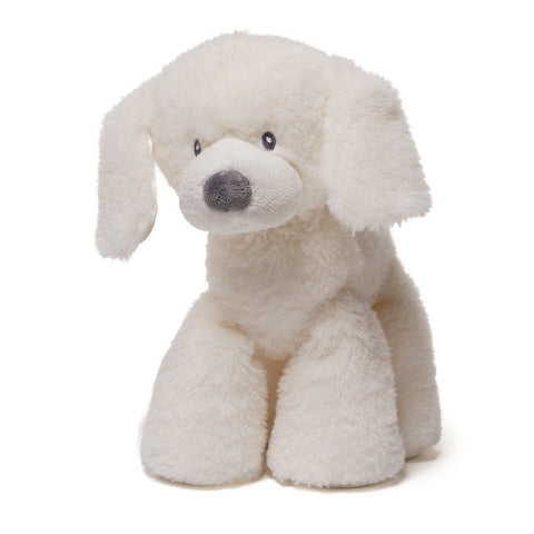 "Fluffey the Cream Dog Medium - 10"" - Baby Gund - Plush Friends"