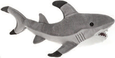 "Gray Shark Stuffed Animal - 16"" - Fiesta - Plush Friends"