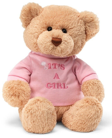 "It's A Girl Teddy Bear - 12"" - Gund - Plush Friends"