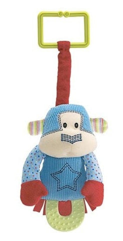 "Jax the Monkey Pulldown Teether - 7"" - Baby Gund - Plush Friends"