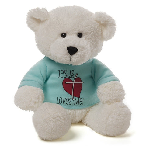 "Jesus Loves Me Teddy Bear - 12"" - Gund - Plush Friends"