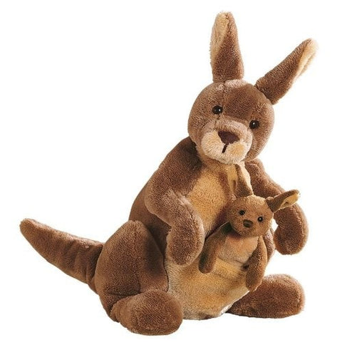 "Jirra the Kangaroo & Baby - 10"" - Gund - Plush Friends"