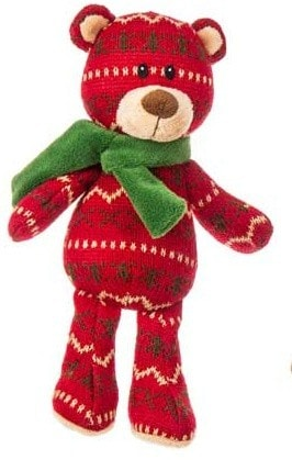 "Kringle Knits Cranberry Bear - 10"" - Mary Meyer - Plush Friends"