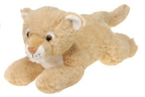 "Laydown Cougar Stuffed Animal Medium - 12"" - Fiesta - Plush Friends"