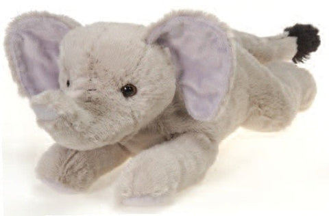 "Laydown Elephant Plush Large - 16.5"" - Fiesta - Plush Friends"
