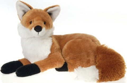 "Laydown Red Fox Stuffed Animal - 13"" - Fiesta - Plush Friends"
