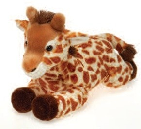 "Laydown Giraffe Plush Medium - 12"" - Fiesta - Plush Friends"