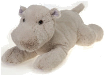 "Laydown Plush Hippo Large - 16.5"" - Fiesta - Plush Friends"