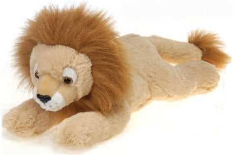 "Laydown Lion Plush Large - 16.5"" - Fiesta - Plush Friends"