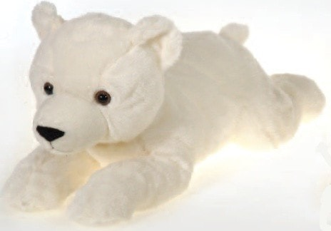 Laydown Plush Polar Bear Large 16 5 Fiesta Plush Friends