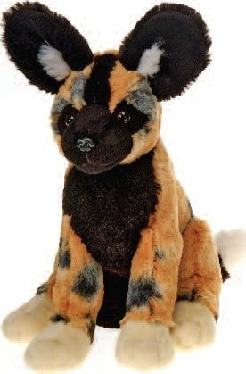 "Lazybeans Bean Bag African Wild Dog - 10"" - Fiesta - Plush Friends"