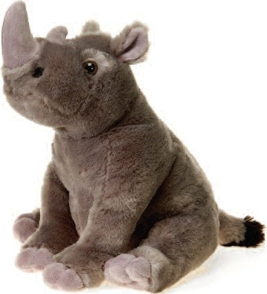 "Lazybeans Bean Bag Rhinoceros Stuffed Animal - 10"" - Fiesta - Plush Friends"