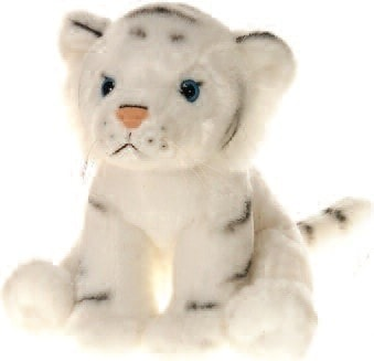 "Lazybeans Bean Bag White Tiger Stuffed Animal - 10"" - Fiesta - Plush Friends"