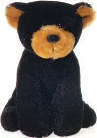 "Lil' Buddies Baxter the Black Bear Beanbag - 6"" - Fiesta - Plush Friends"