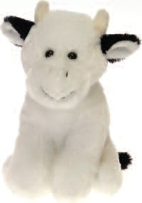 "Lil' Buddies Cocoa the Stuffed Animal Cow Beanbag - 6"" - Fiesta - Plush Friends"