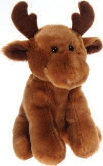 "Lil' Buddies Melly the Stuffed Animal Moose Beanbag - 6"" - Fiesta - Plush Friends"
